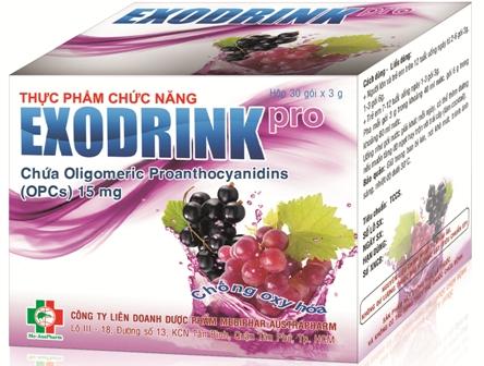 Exodrink Pro chứa OPCs chống lão hóa
