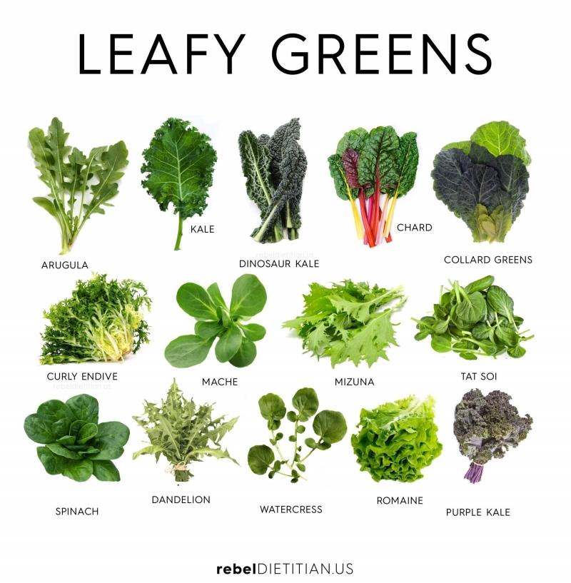 Các loại rau lá xanh giàu chất chống oxy hóa, vitamin và khoáng chất ngăn ngừa ung thư
