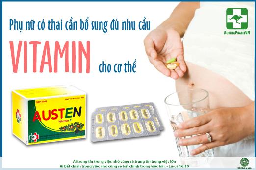Cac loai vitamin can bo sung khi mang thai